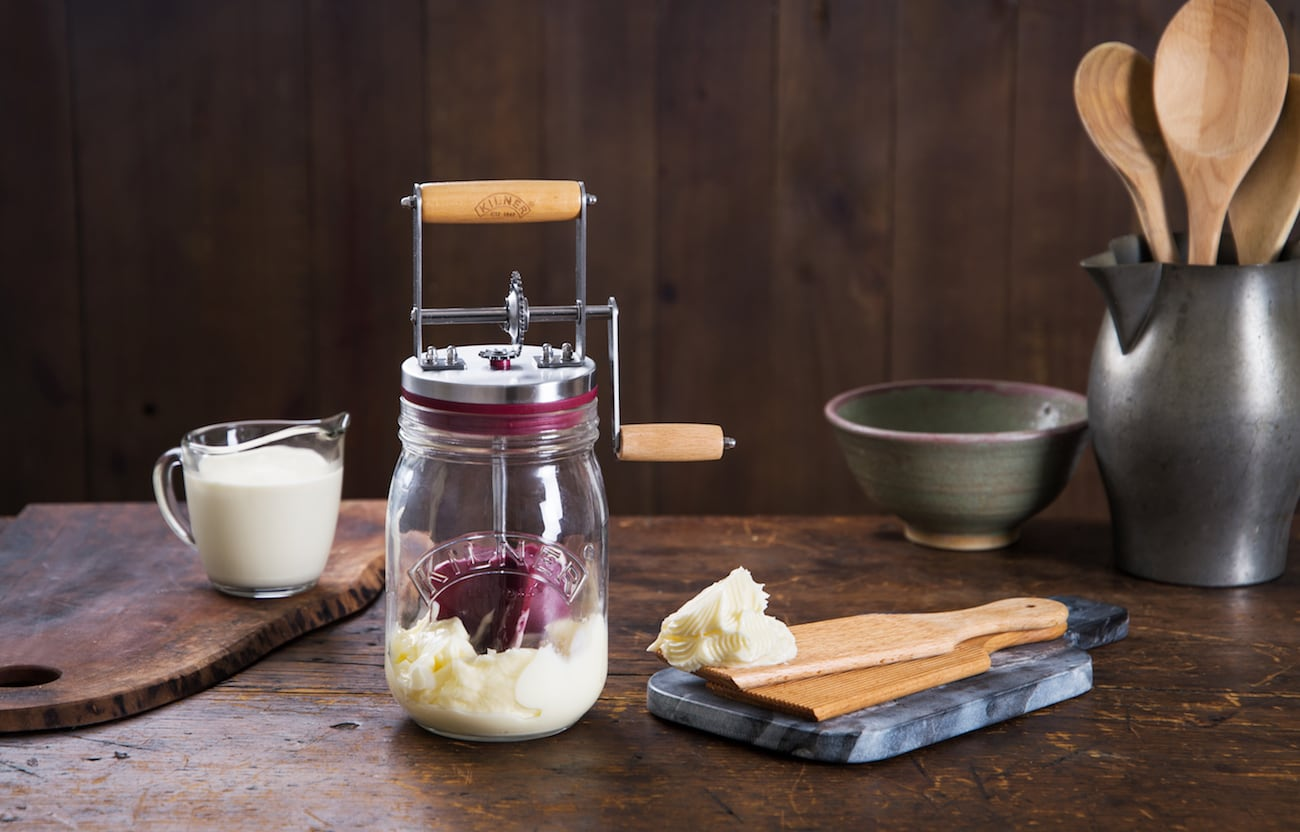 Kilner Manual Glass Butter Churn
