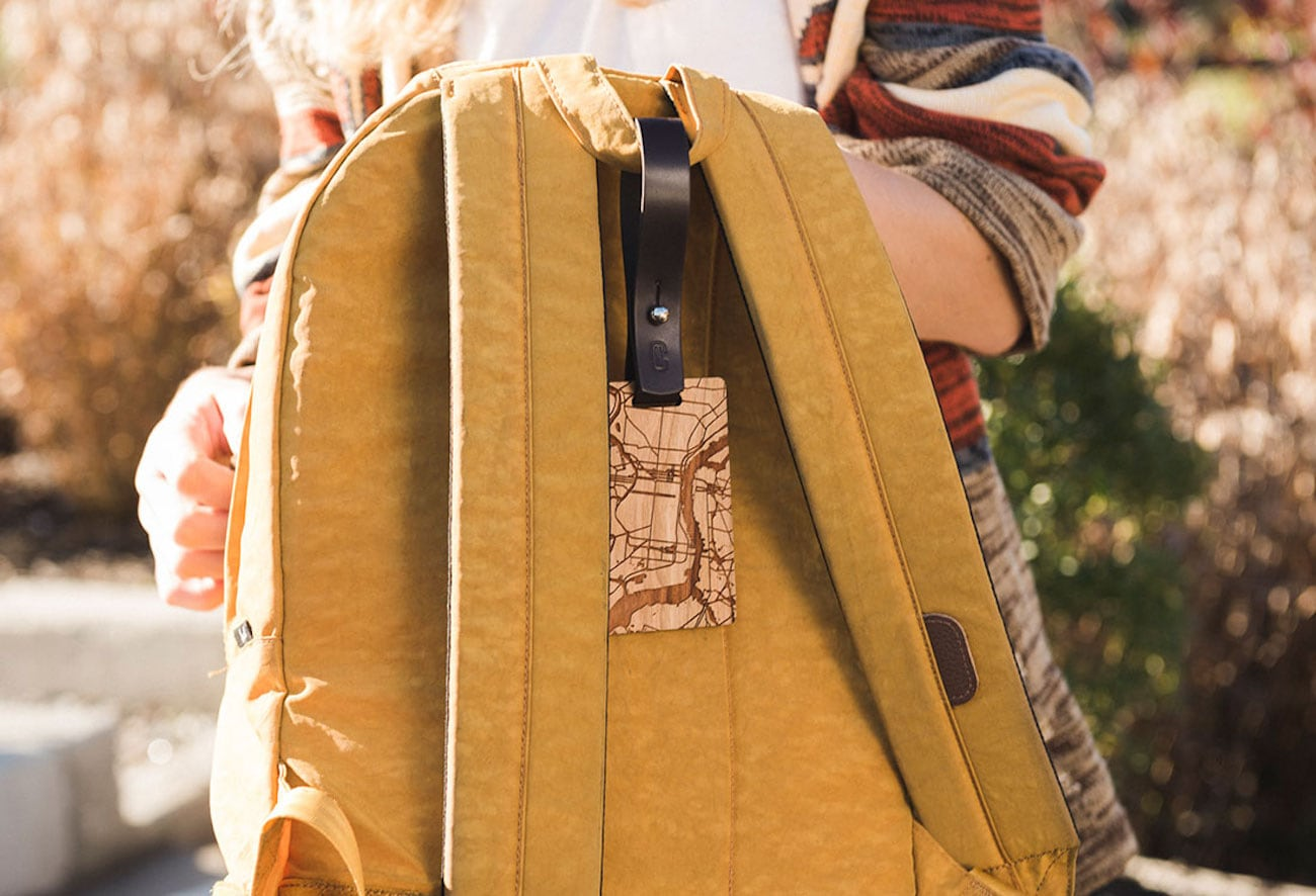 New Custom Customizable Wood Luggage Tag