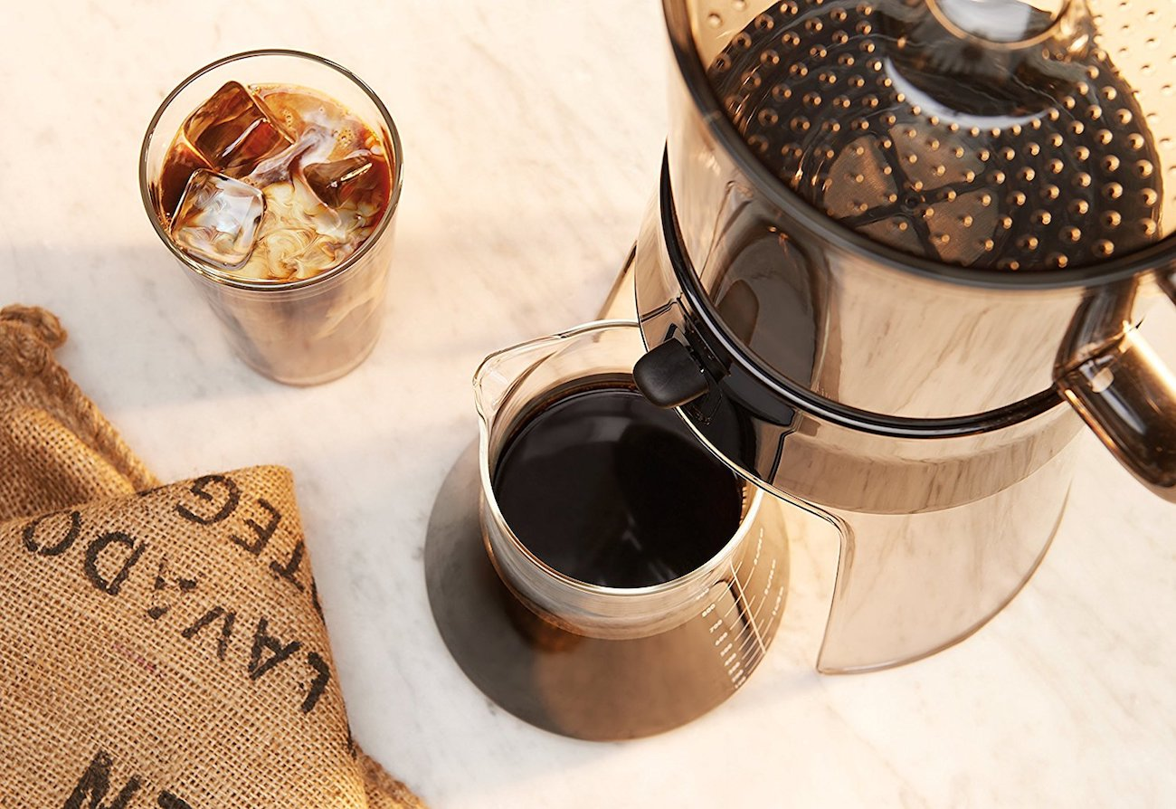 OXO Good Grips Cold Brew Coffee Maker makes 4 cups of delicious cold brew