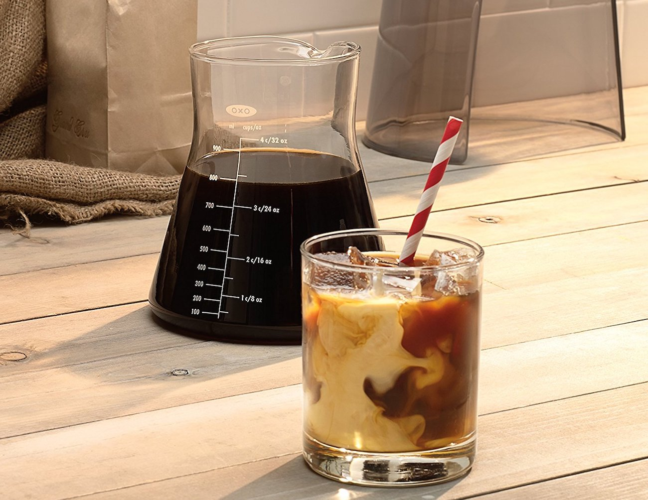 OXO Good Grips Cold Brew Coffee Maker makes 4 cups of delicious cold brew loading=