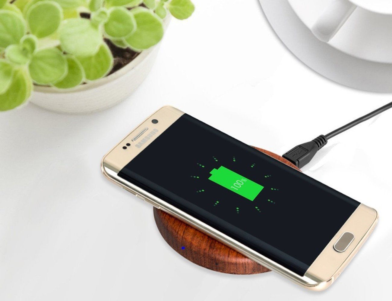 qivv wooden wireless smartphone charger gadget flow. Black Bedroom Furniture Sets. Home Design Ideas