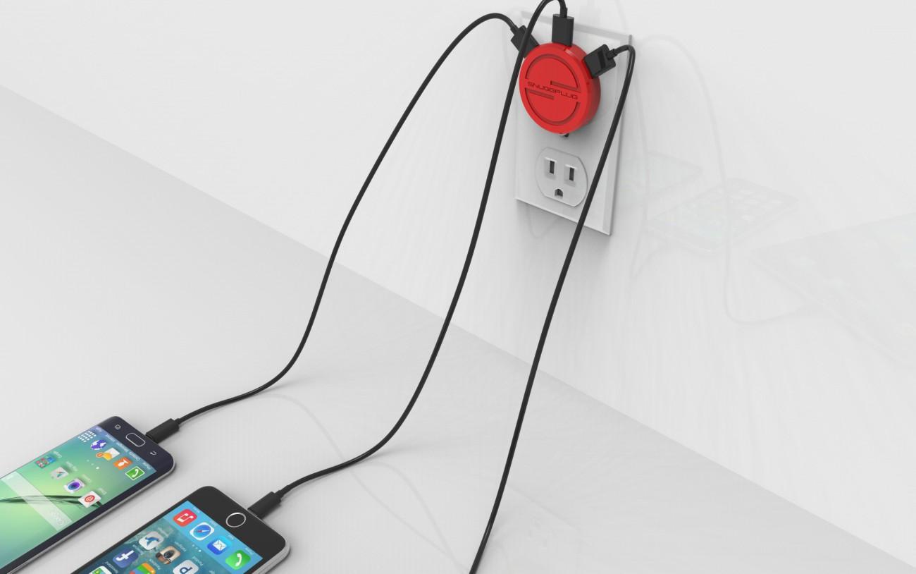 SnuggPlug Ultra Slim Multi USB Wall Charger