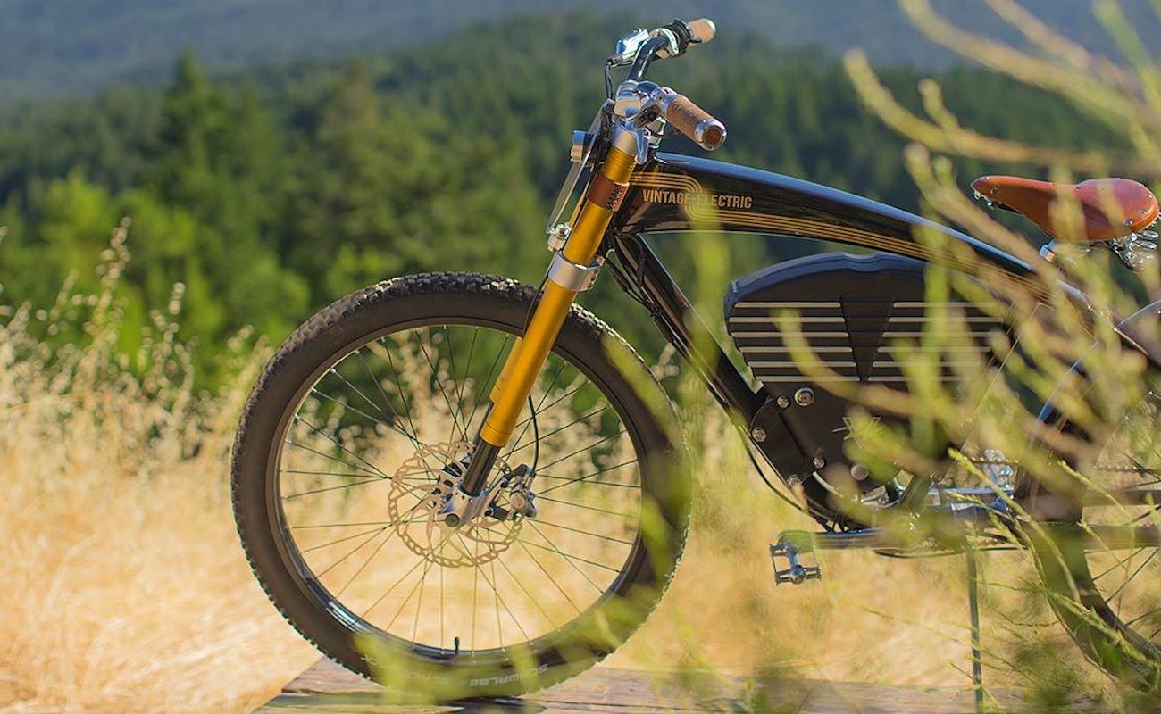 Vintage Electric Scrambler Electric Bike