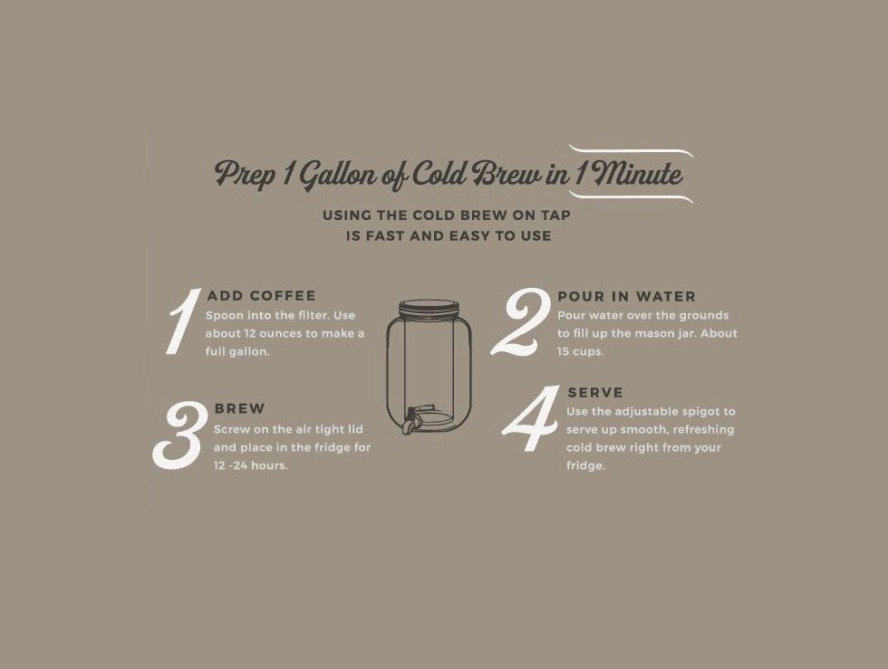 Willow & Everett Cold Brew Mason Jar Tap
