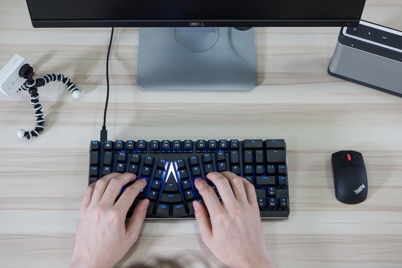 X-Bows+Mechanical+Ergonomic+Keyboard