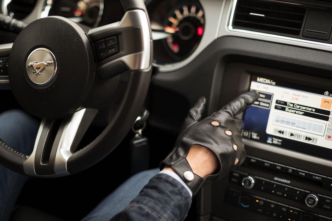 napo gloves Touchscreen Leather Gloves