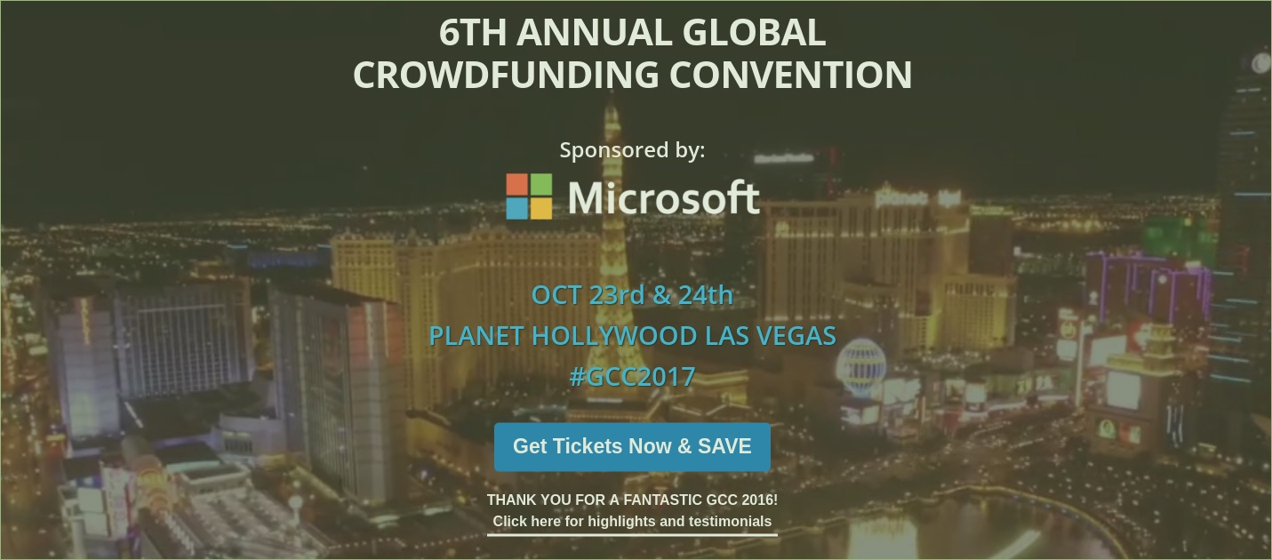 Gadget Flow Joins Microsoft As Sponsors For The 6th Annual Global Crowdfunding Convention