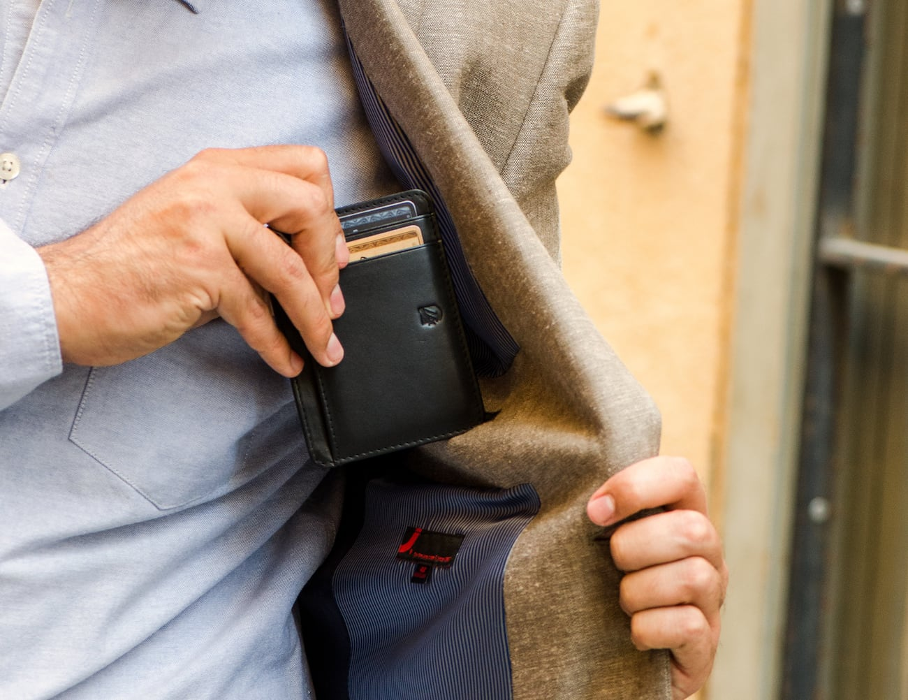 Axess Artisan Leather RFID-Blocking V-Shaped Wallet