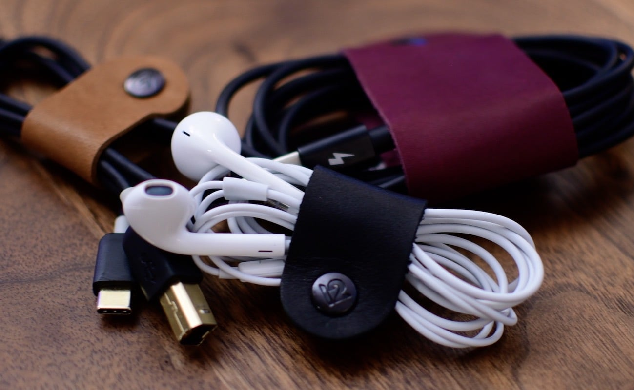 Twelve South CableSnap Leather Cable Organizer