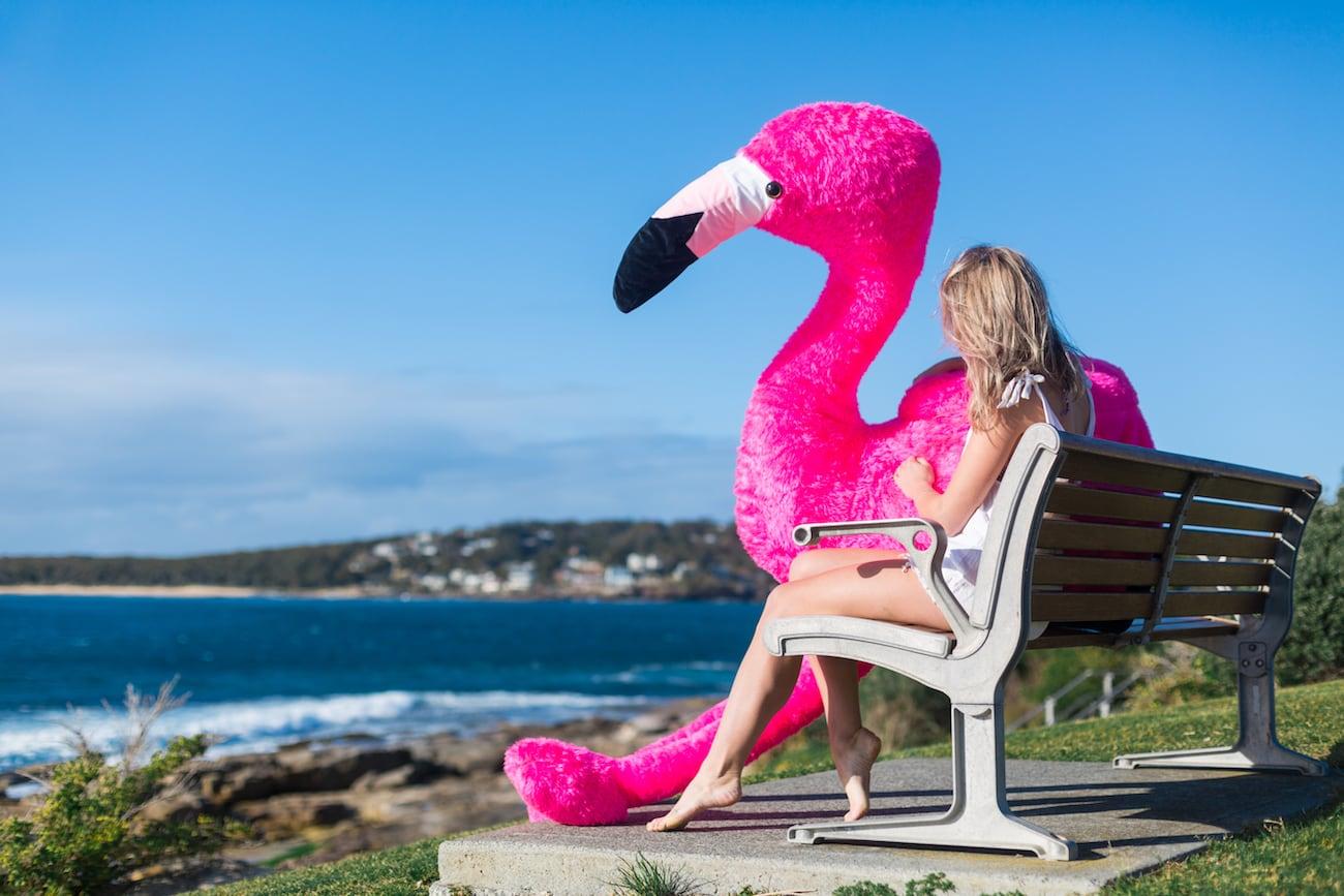 Chillingo Inflatable Plush Flamingo