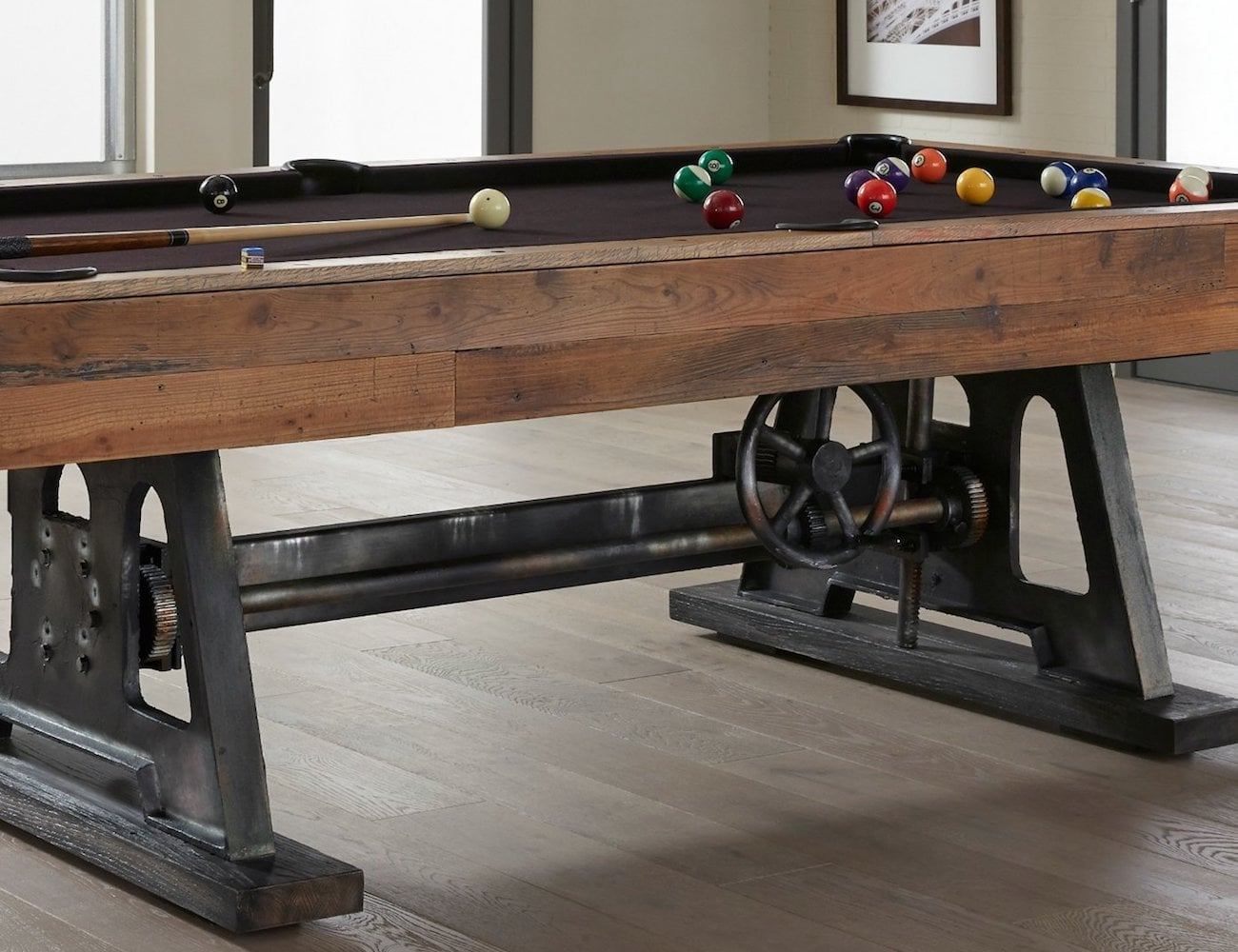 Da+Vinci+Reclaimed+Wood+Billiards+Table