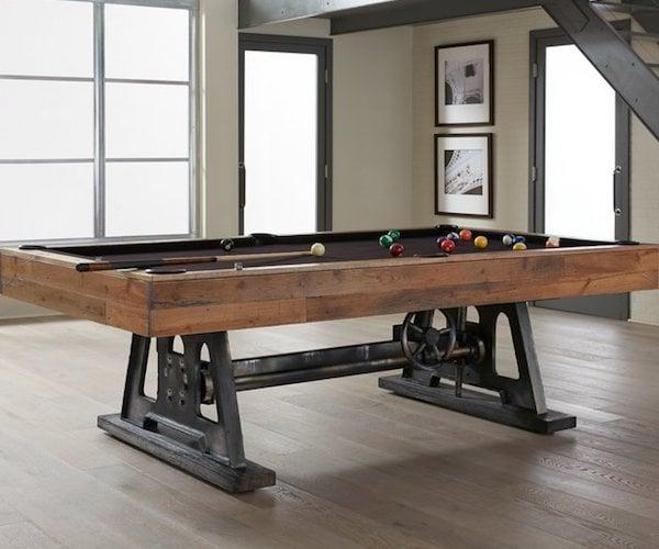 Da Vinci Reclaimed Wood Billiards Table