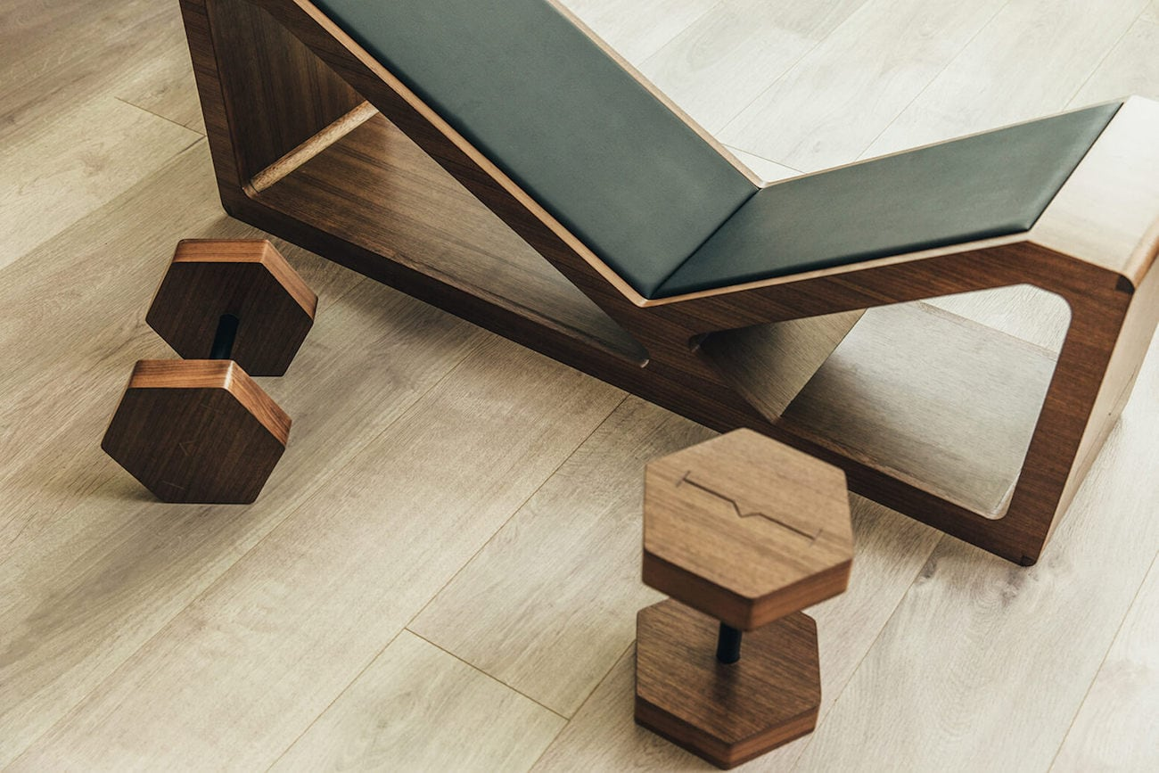 Wooden Household Furniture ~ Habit multifunctional wood fitness furniture gadget flow