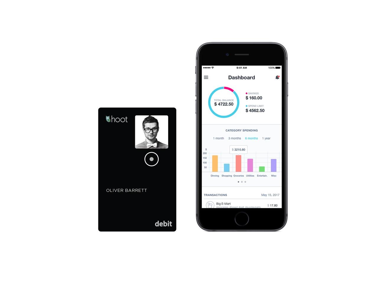 Hoot Bank Smart Debit Card