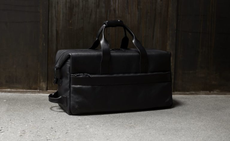 Killspencer+Utility+Black+Leather+Weekender