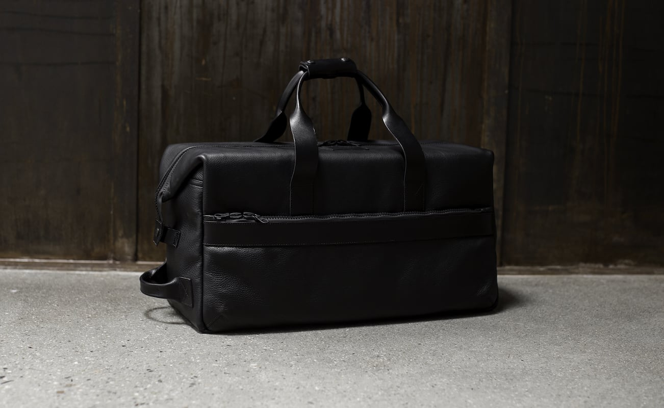 Killspencer Utility Black Leather Weekender