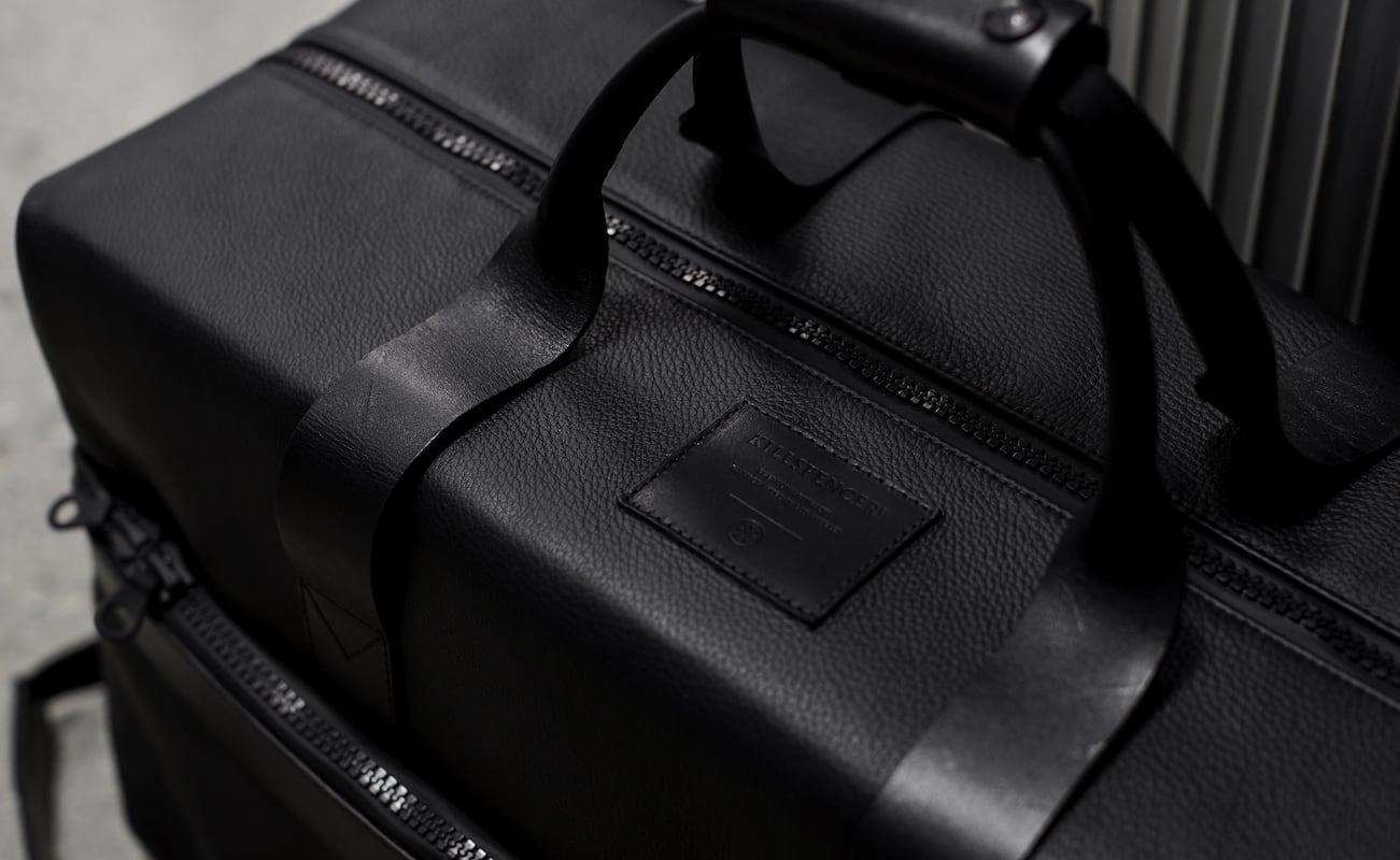 Killspencer Utility Black Leather Weekender