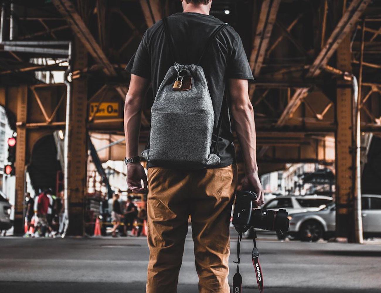 Loctote Flak Sack Heavy-Duty Drawstring Backpack