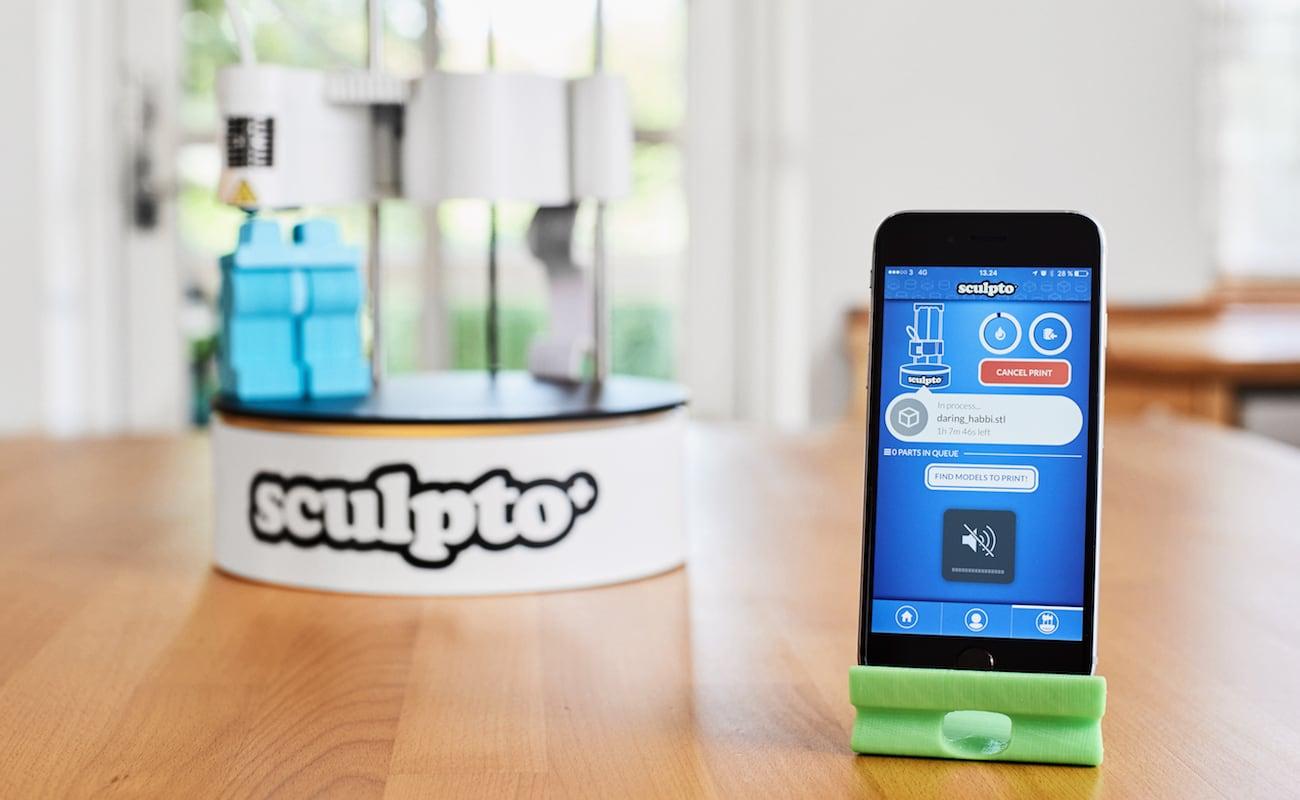Sculpto+ User-Friendly Desktop 3D Printer