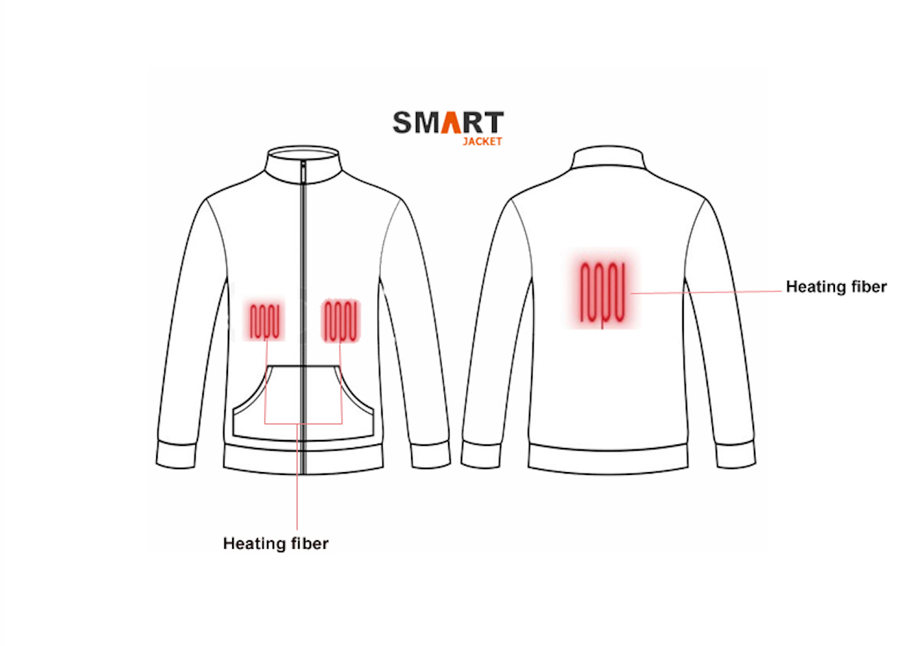 smart jacket battery powered heated jacket  u00bb gadget flow