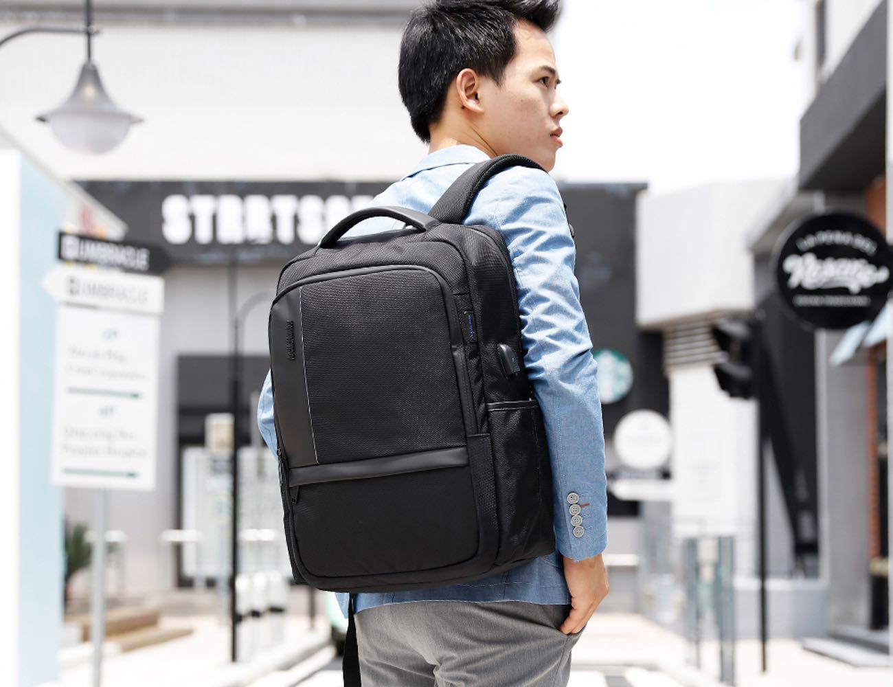Waterproof USB Charging Everyday Backpack loading=