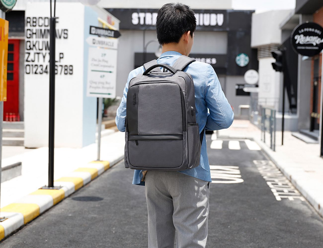 Waterproof USB Charging Everyday Backpack