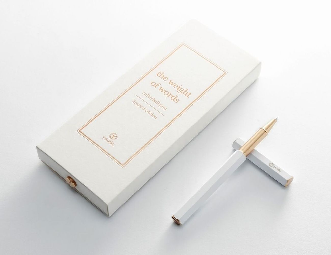 Ystudio Limited Edition White Rollerball Pen