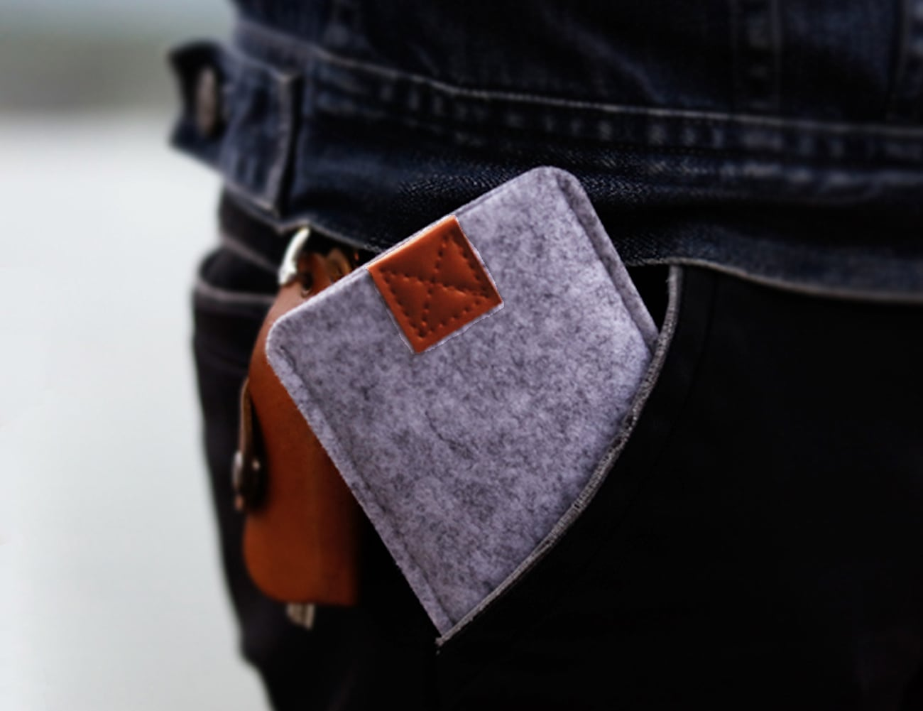 iPhone 8 Handmade Felt Wallet Case