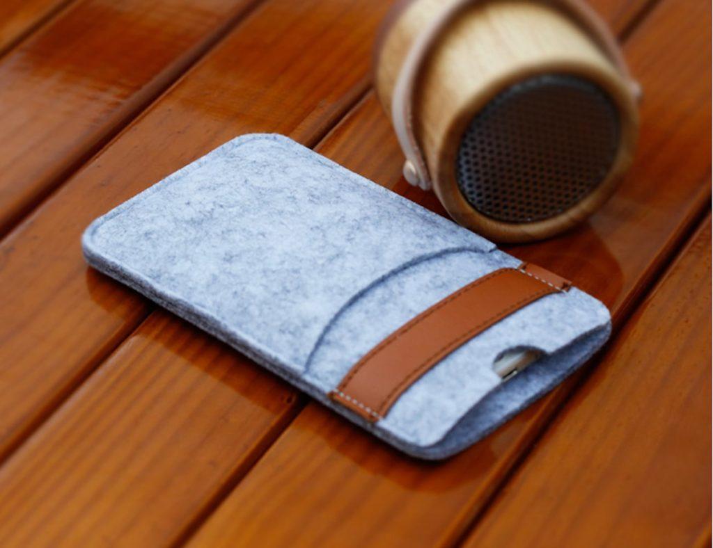 iPhone+X+Felt+Wallet+Case