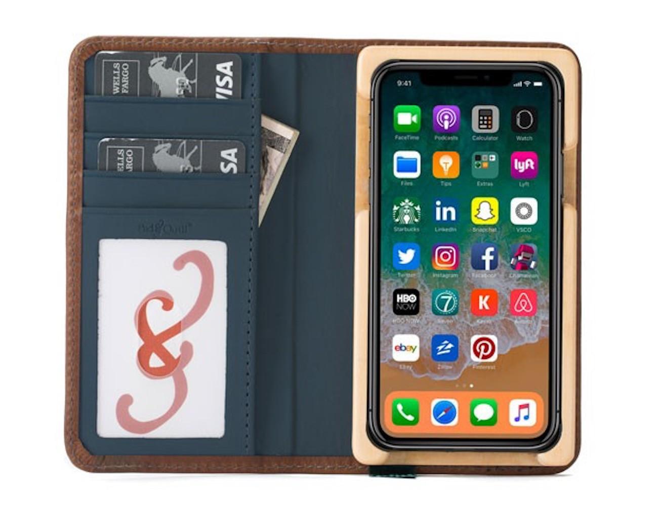 Pocket Book Luxury iPhone X Wallet Case