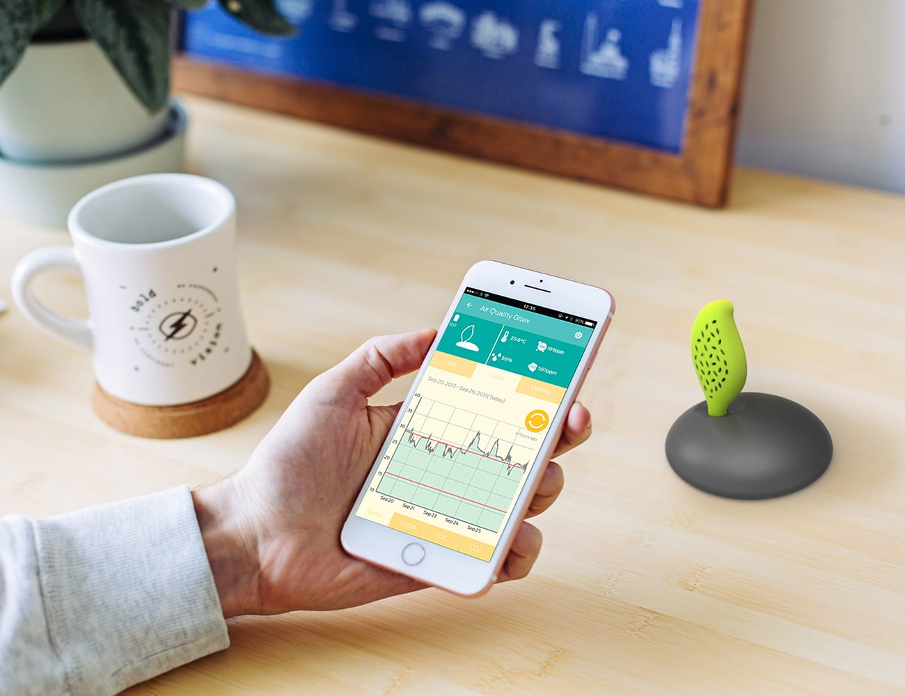 AirQuality Smart Air-Monitoring Plant