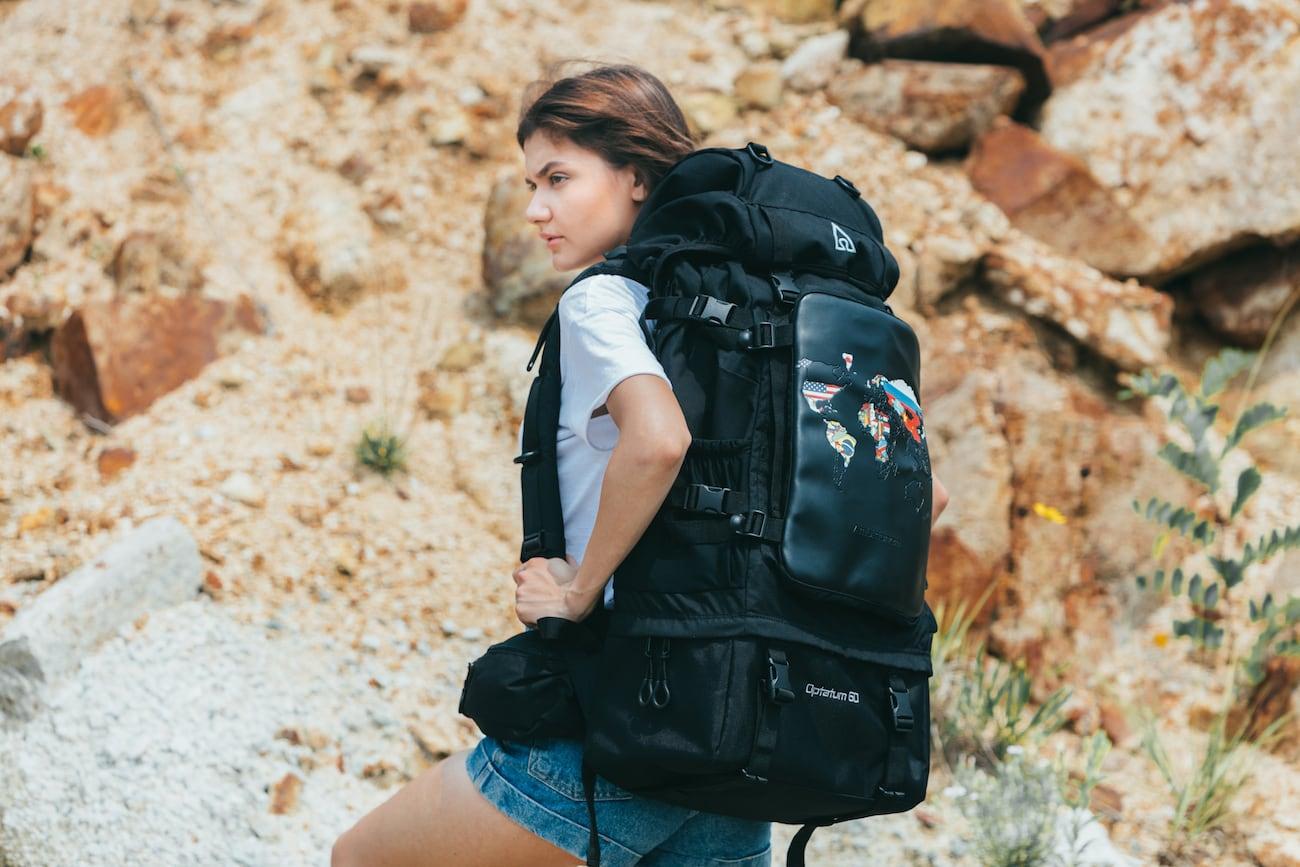 Ambitionem World Map Marking Backpack