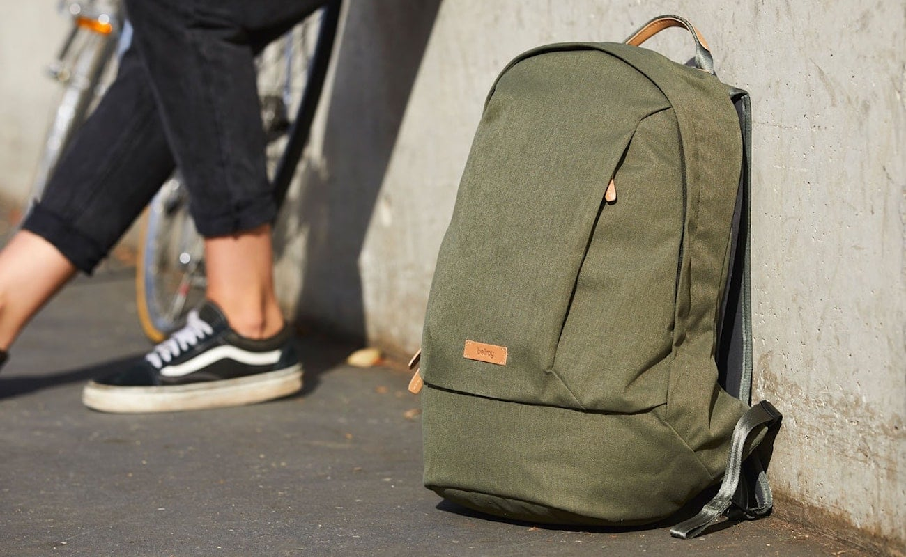 Bellroy Classic Backpack Recycled Bag holds up to a 15″ laptop