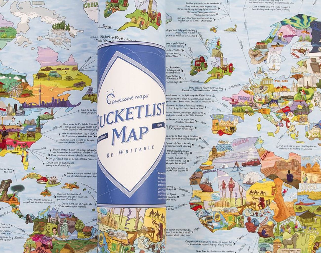 Rand mcnally classic world map around the world english version by bucketlist world map poster gumiabroncs Images