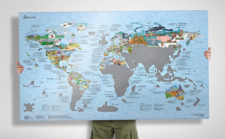 Bucketlist+World+Map+Poster
