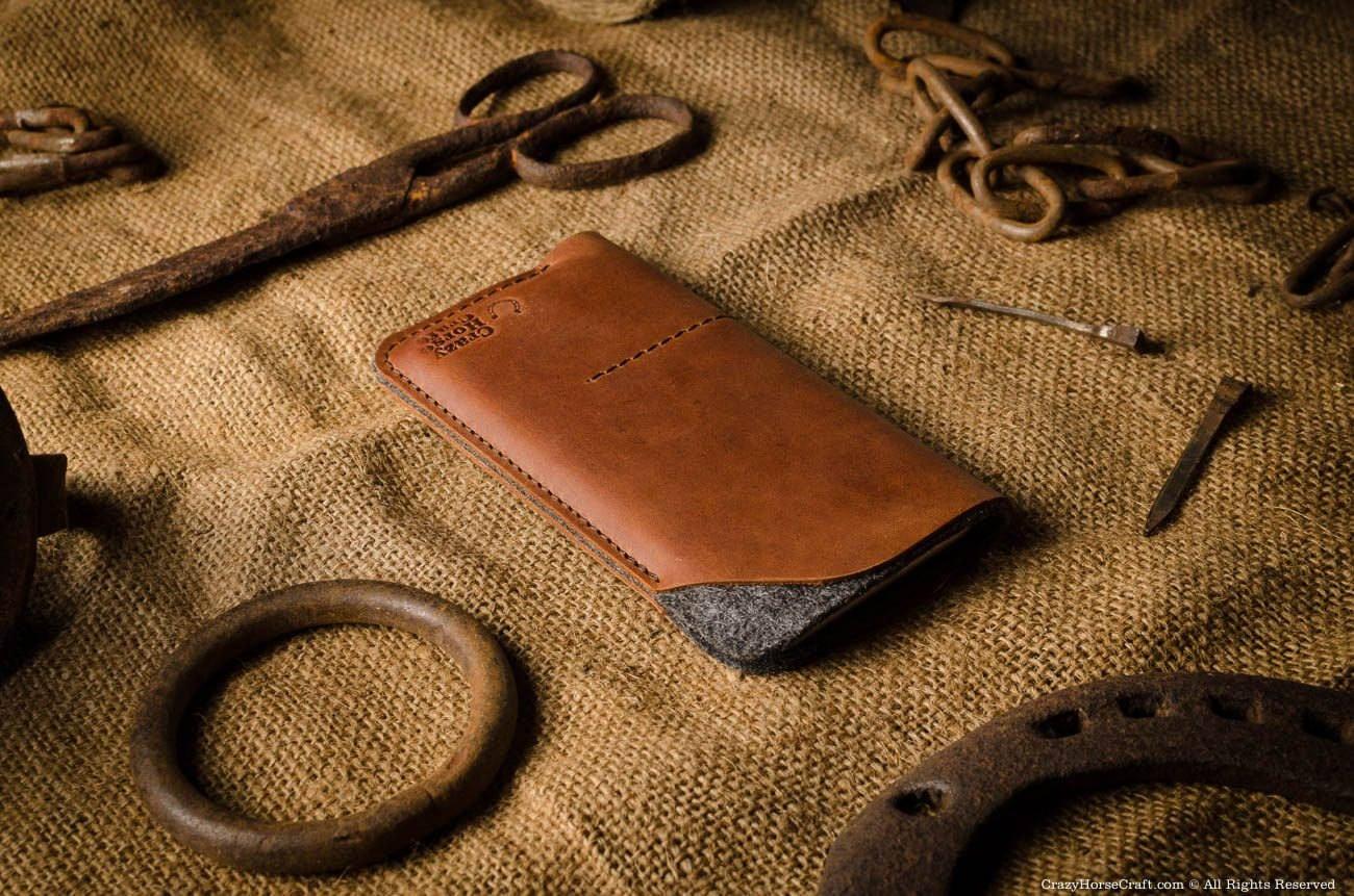 CrazyHorse Leather iPhone X Wallet Case