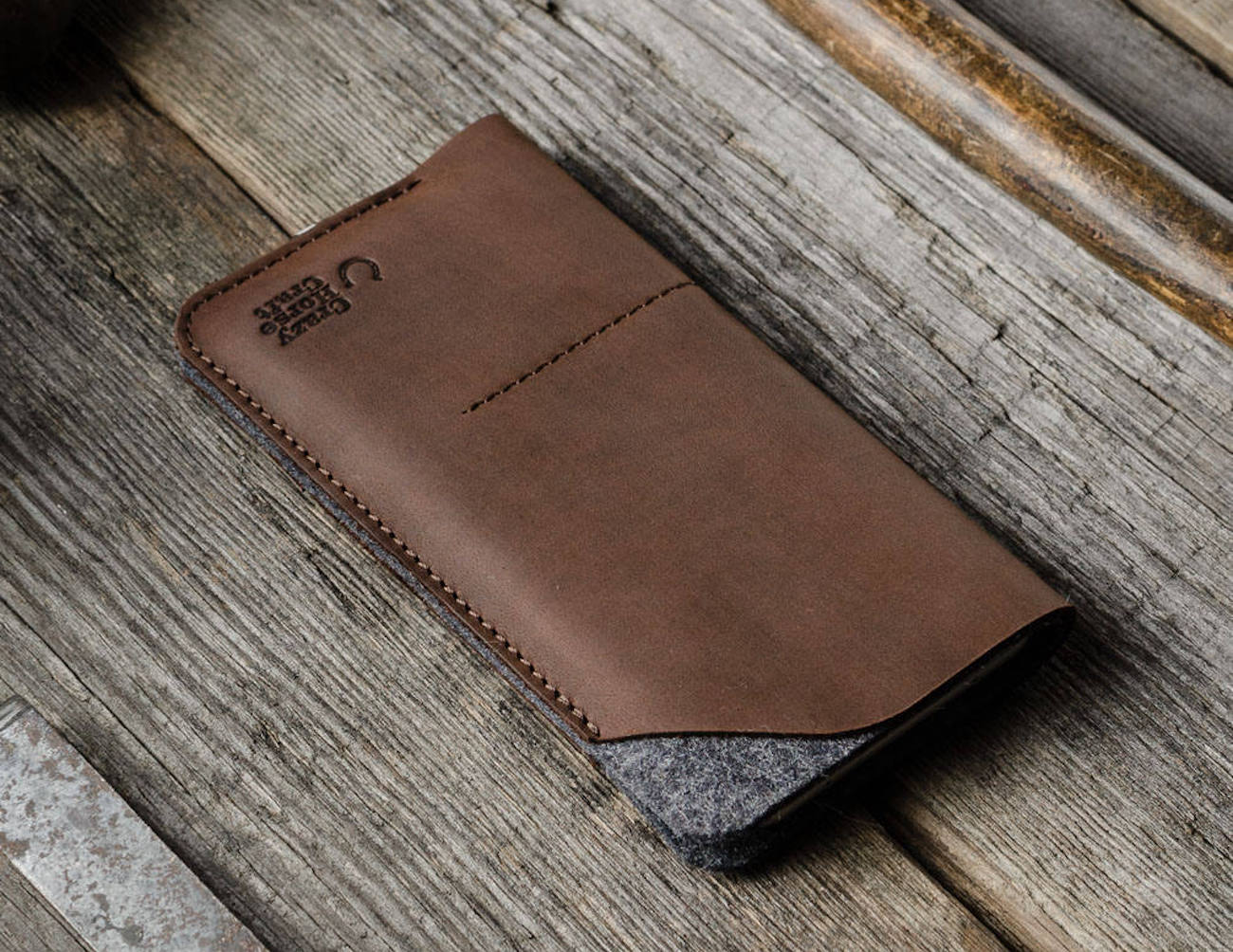 CrazyHorse Leather iPhone X Wallet Case
