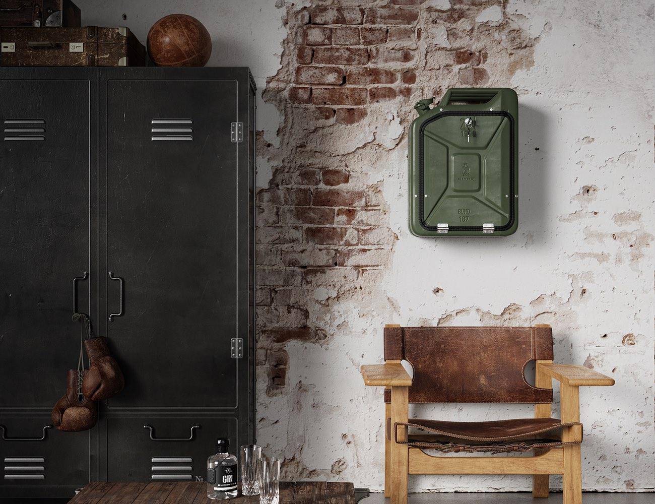 Danish Fuel Tank Bar Cabinet