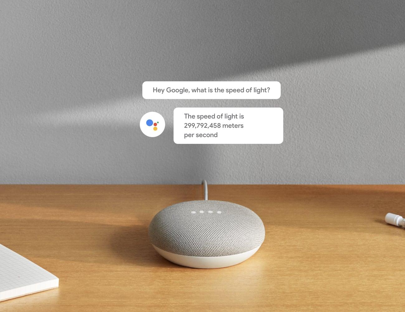 Google Home Mini Smart Assistant Speaker