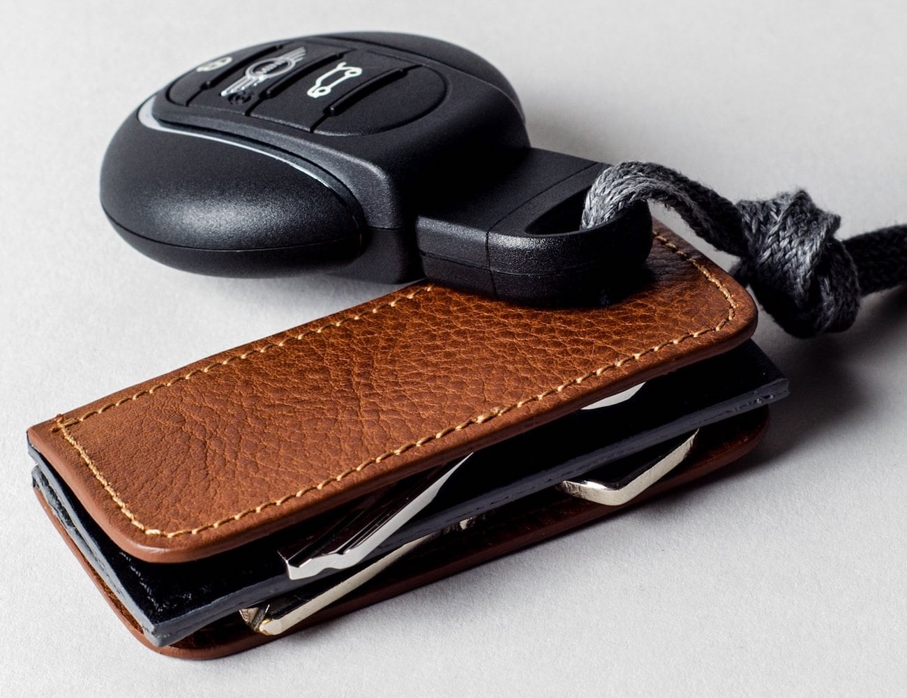 Hard Graft 3Key Separé Leather Key Fob