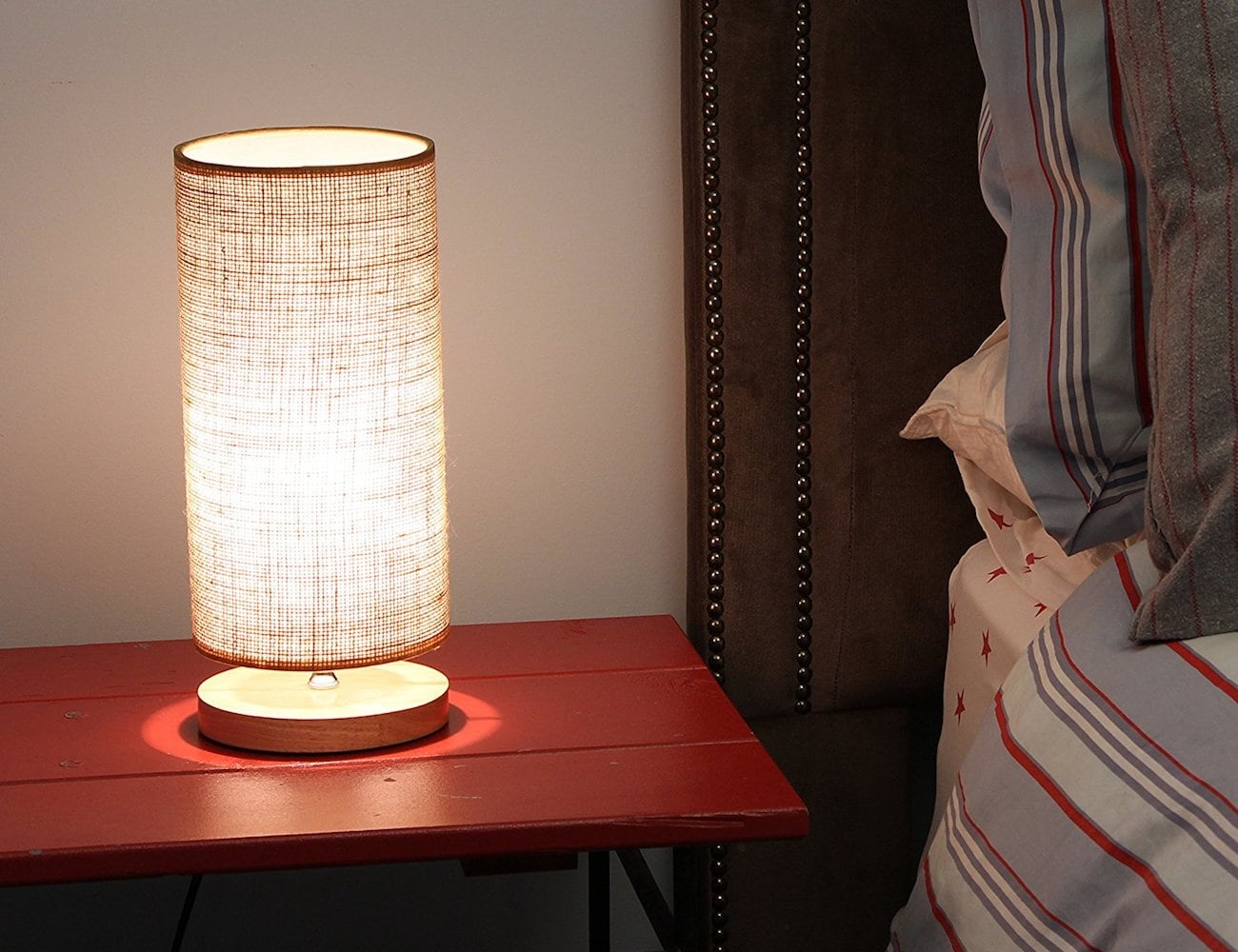 Light Accents Natural Wooden Table Lamp