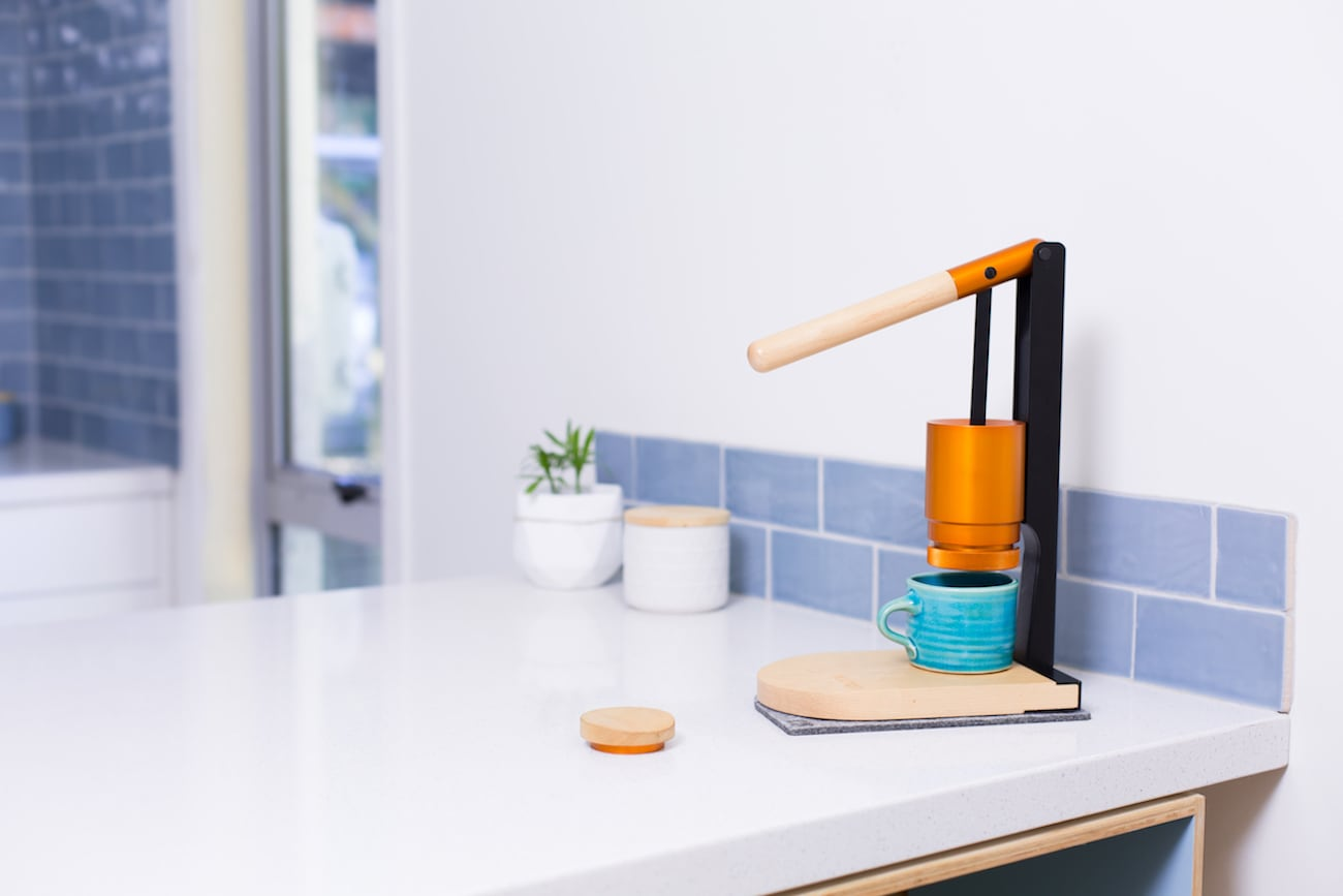 Newton Lever-Press Espresso Maker connects you to the brewing process