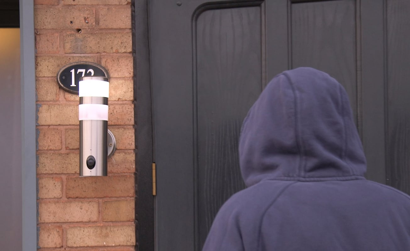 Ces front door security camera -  Unijem 180 Degree Hd Wall Light Security Camera