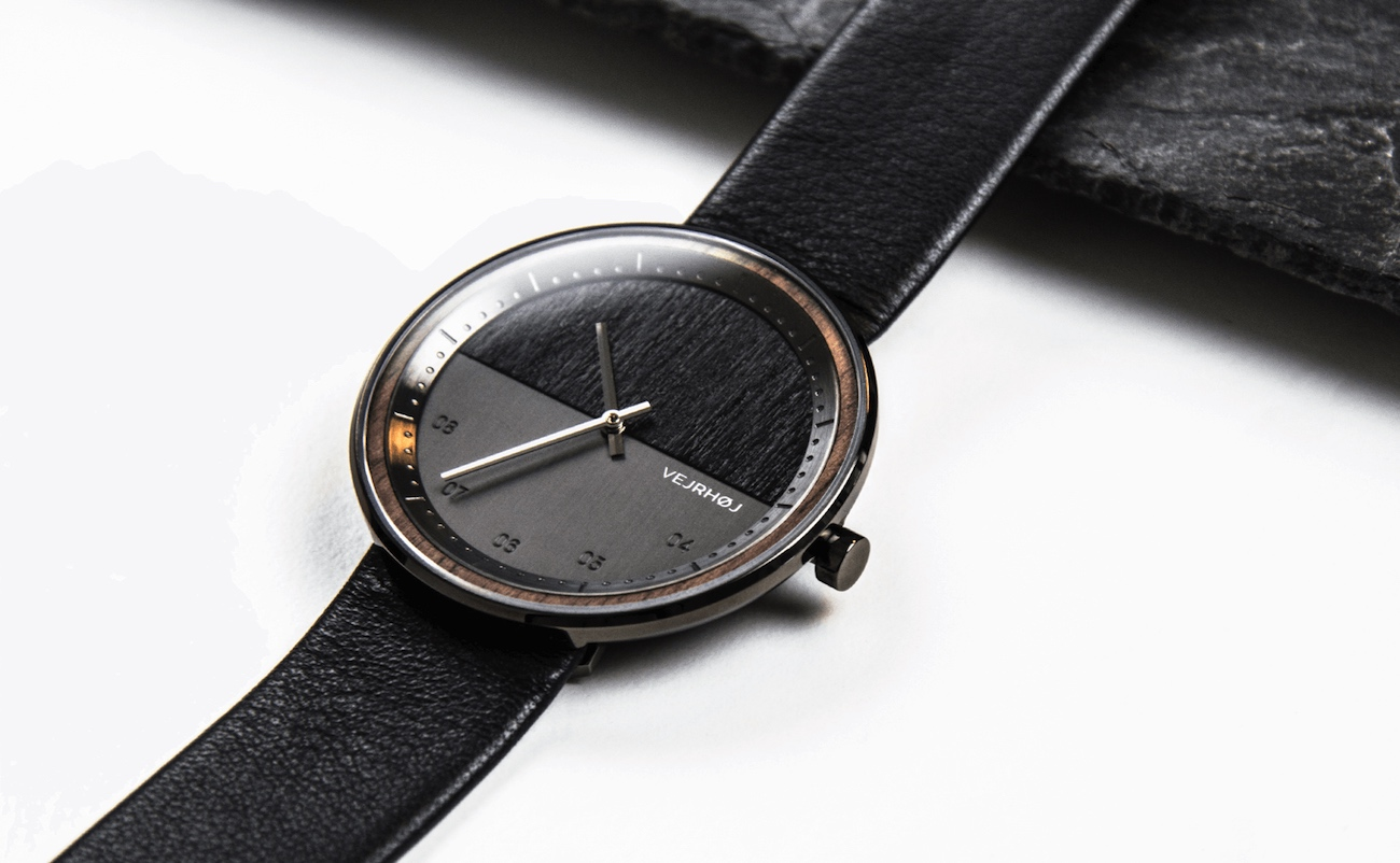 VEJRHOJ Elements Collection Wood and Steel Watches