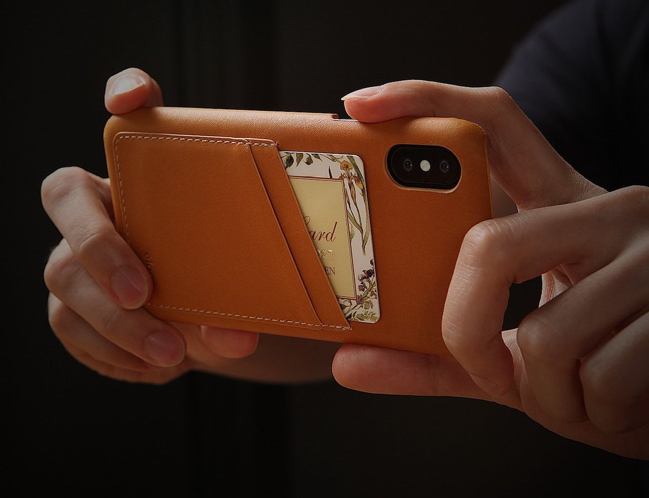elago Italian Leather iPhone X Case