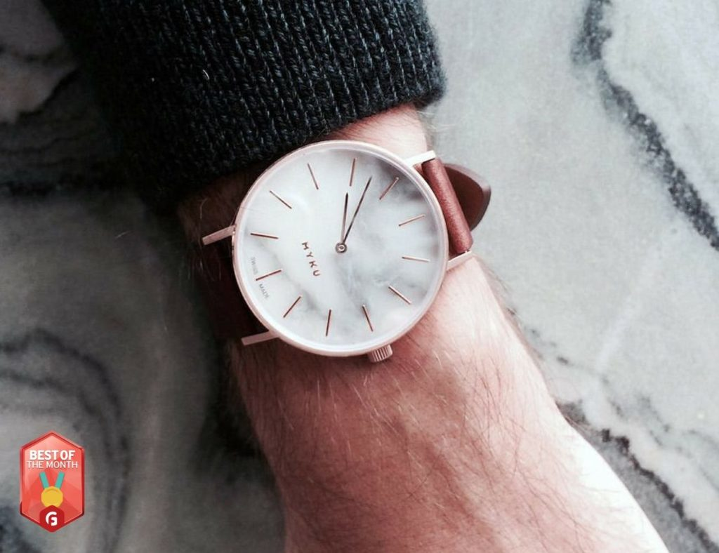 White Marble Classic Watch