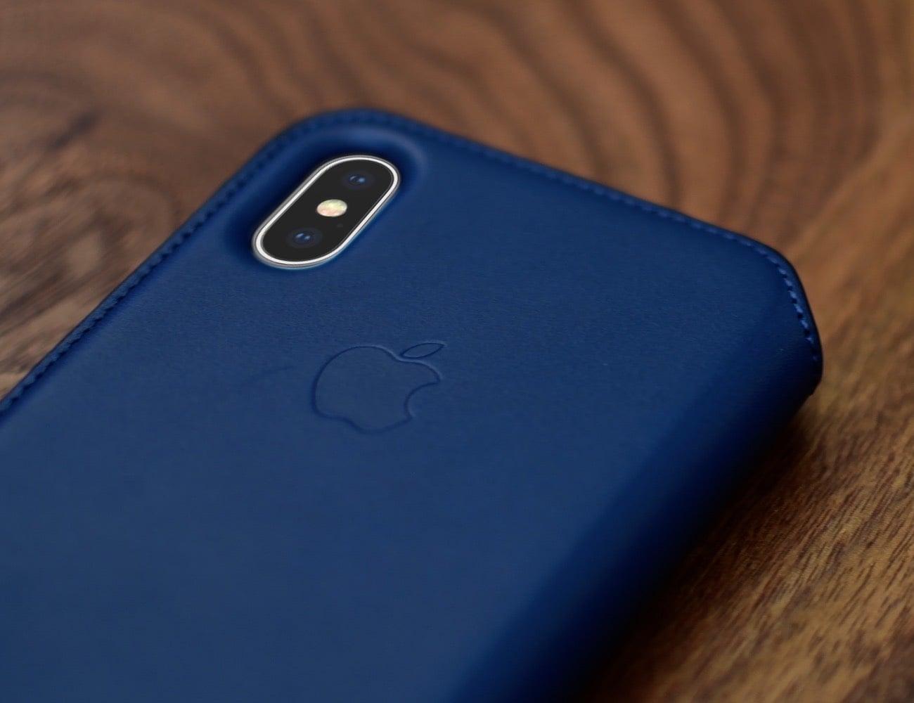 innovative design b4366 1bb73 Apple iPhone X Leather Folio Case