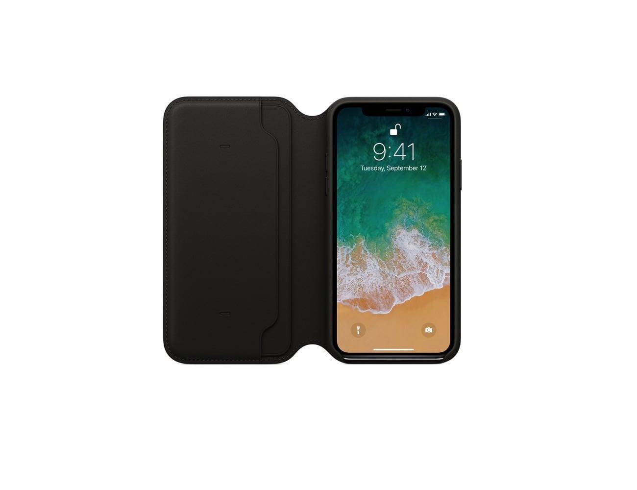 Apple iPhone X Leather Folio Case