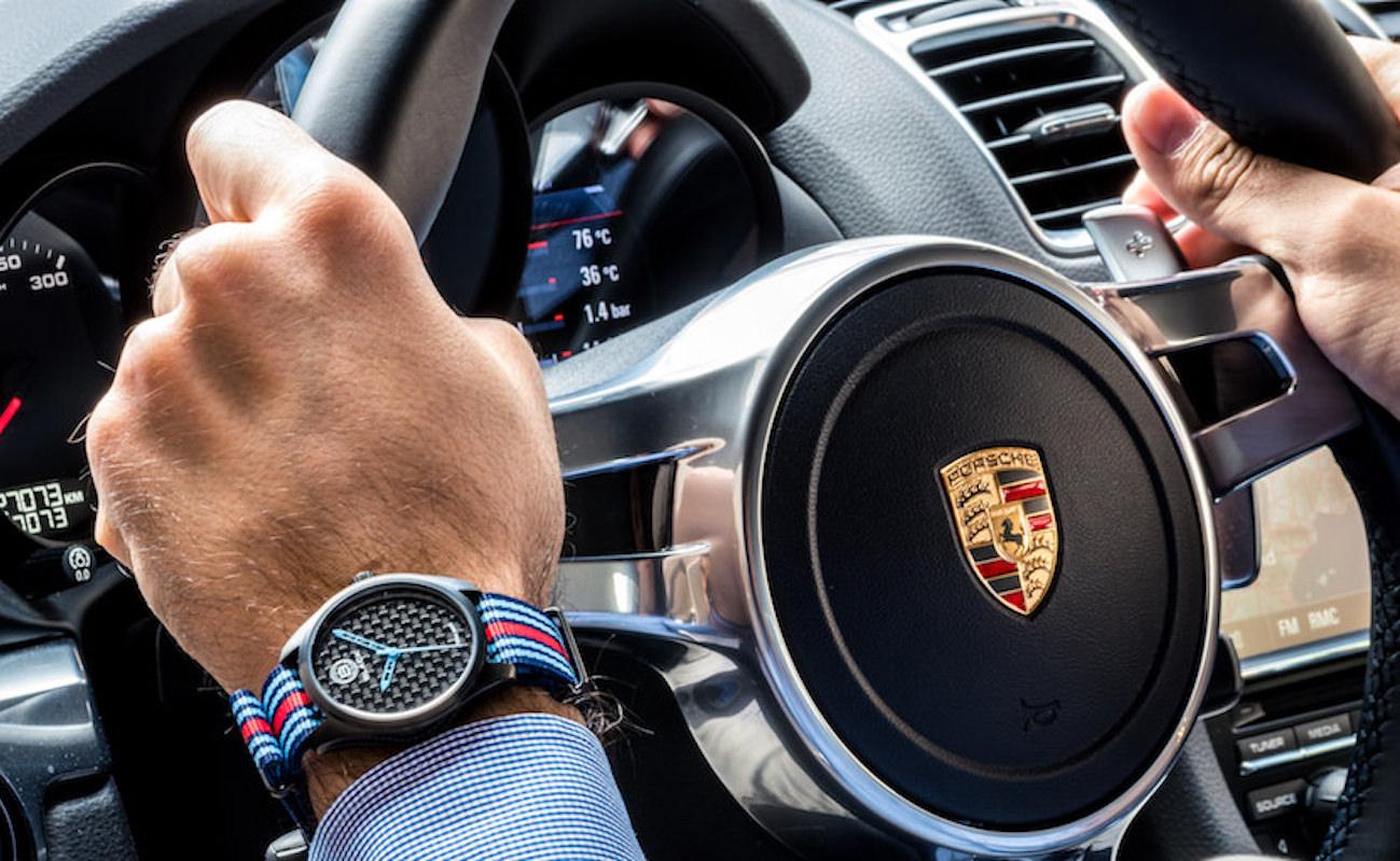 Black Watch Italian Carbon Fiber Watch