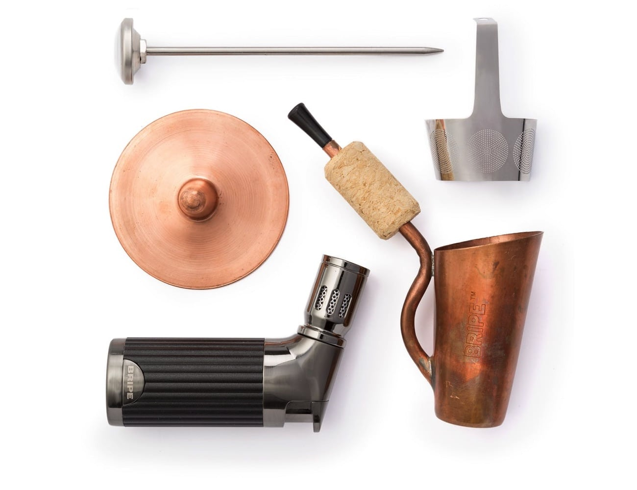 Bripe Copper Coffee Brew Pipe